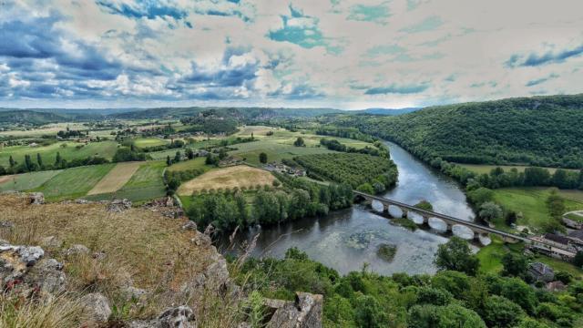 Vue sur la Dordogne depuis Castelnaud La Chapelle