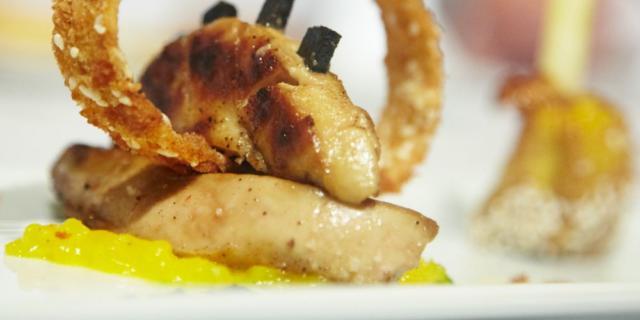 Foie gras poêlé et truffes
