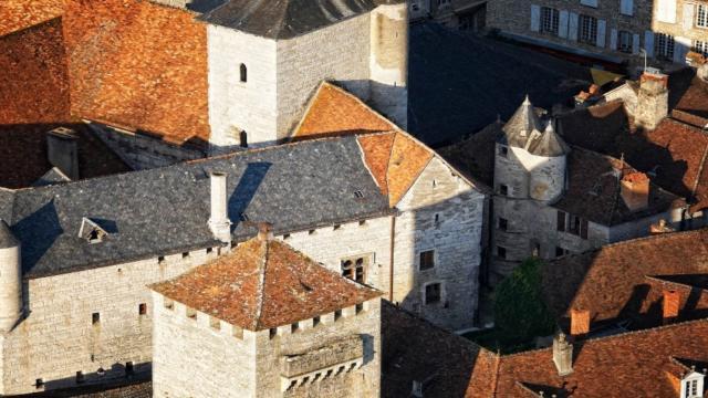 Vue sur les toits de Martel, dans le Lot
