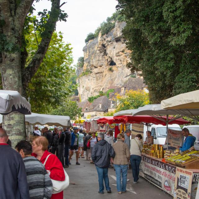 Marché de La Roque Gageac - Plus beaux village de France