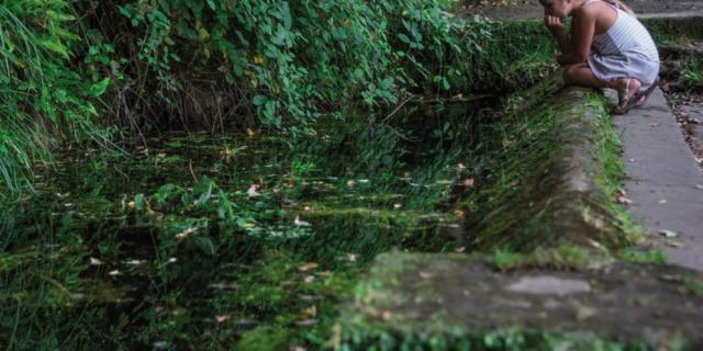 Fontaine de Montfort sur les rives de la Dordogne
