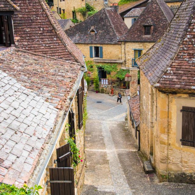 Ruelle du village de Beynac, Vallée de la Dordogne