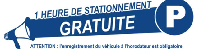 1h Stationnement Gratuite
