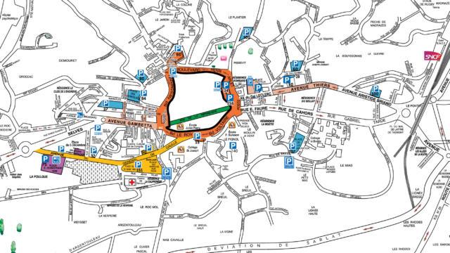 Plan Stationnement Sarlat 2018